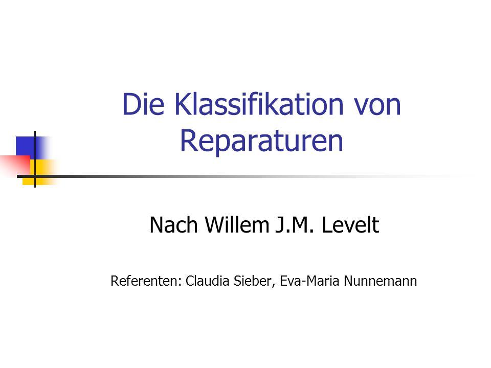Die Klassifikation von Reparaturen