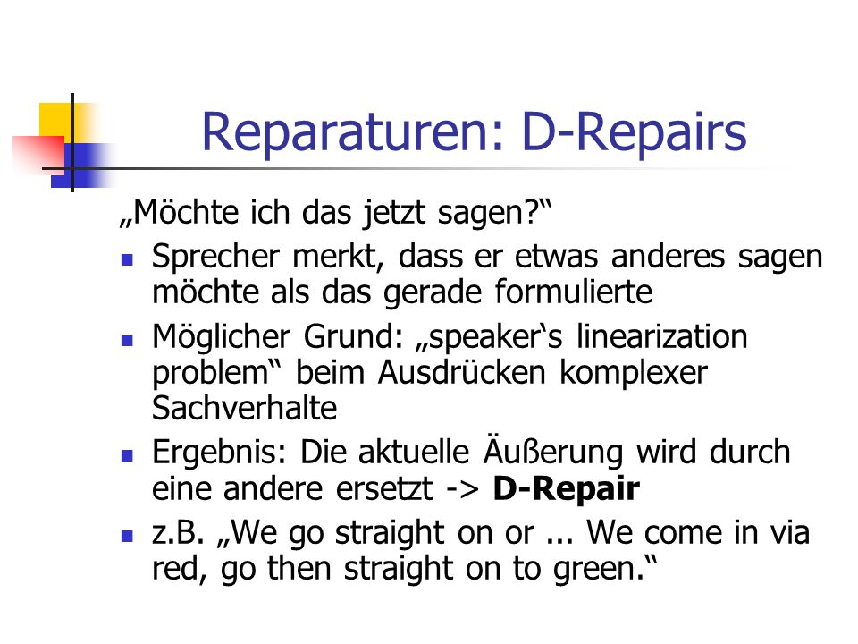 Reparaturen: D-Repairs