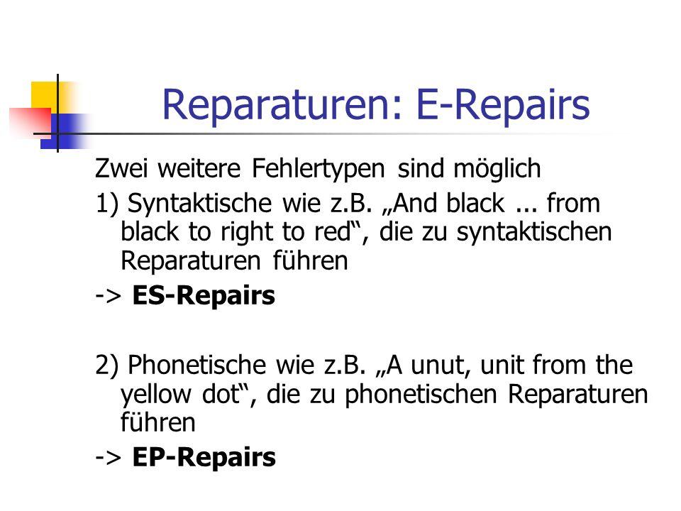 Reparaturen: E-Repairs