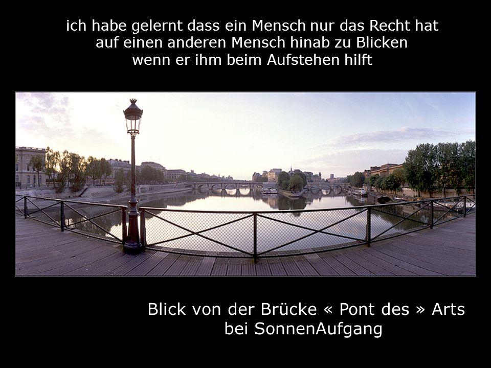 Blick von der Brücke « Pont des » Arts bei SonnenAufgang