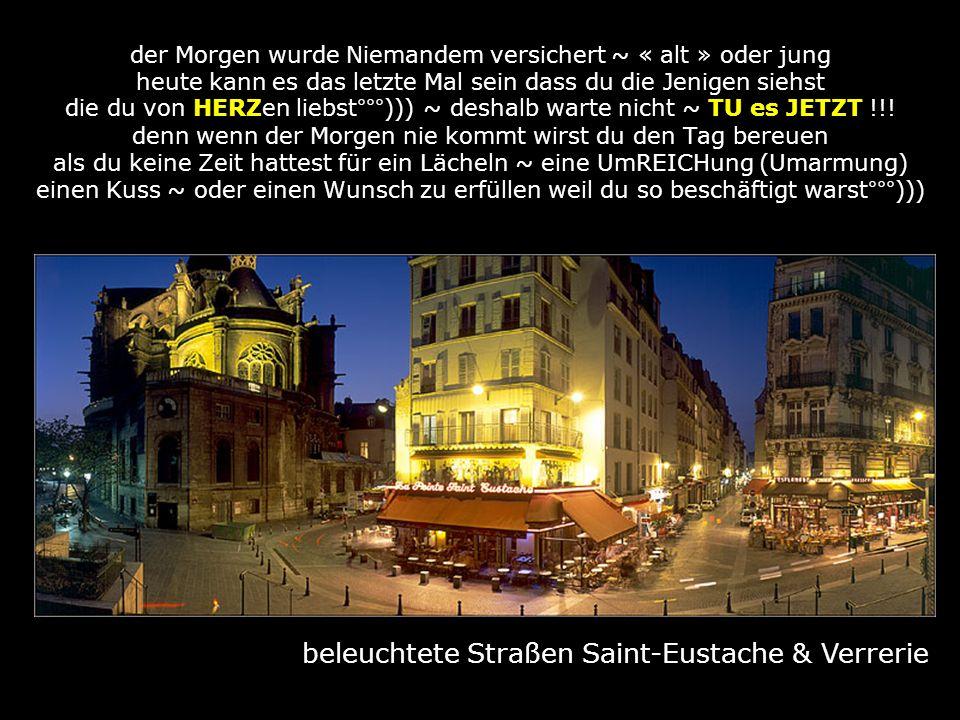 beleuchtete Straßen Saint-Eustache & Verrerie