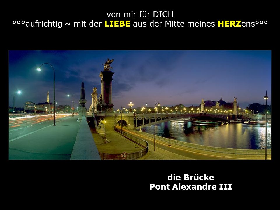 die Brücke Pont Alexandre III
