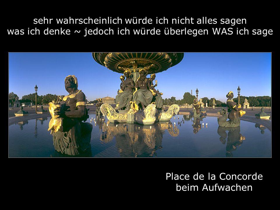 Place de la Concorde beim Aufwachen