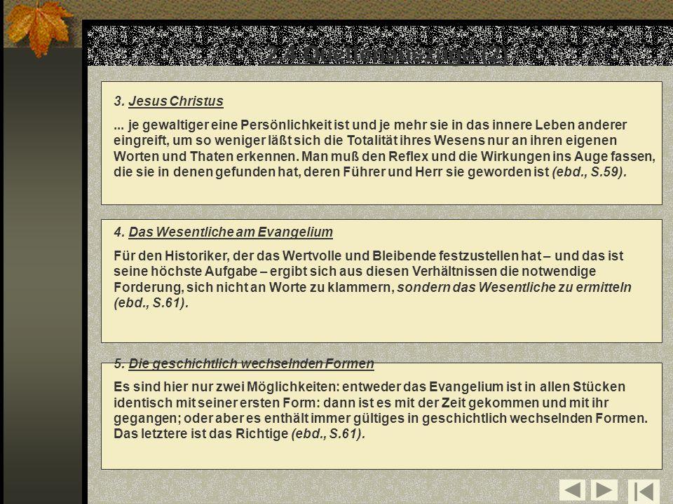 2.4 Quellenauszüge (2) 3. Jesus Christus