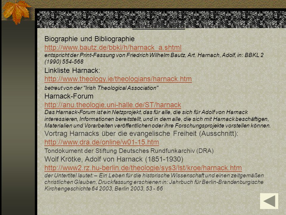 4. Linkliste Biographie und Bibliographie
