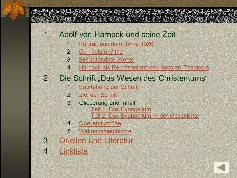 Adolf von Harnack und seine Zeit