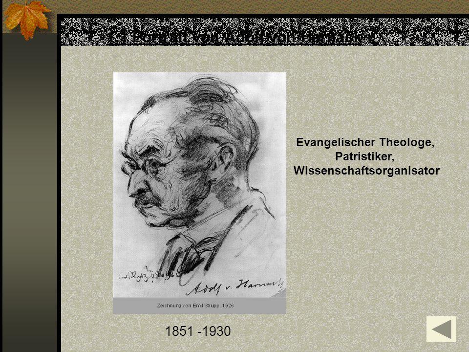 1.1 Portrait von Adolf von Harnack