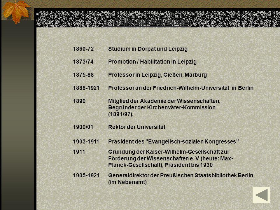 1. Curriculum Vitae 1869-72 Studium in Dorpat und Leipzig