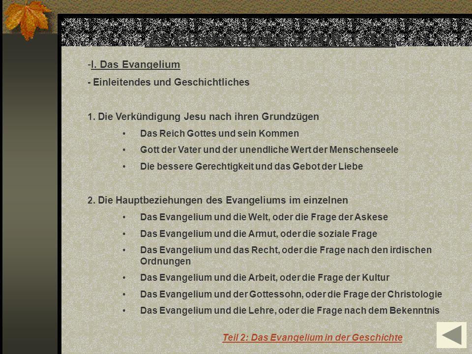 2.3 Gliederung der Schrift, 1. Teil