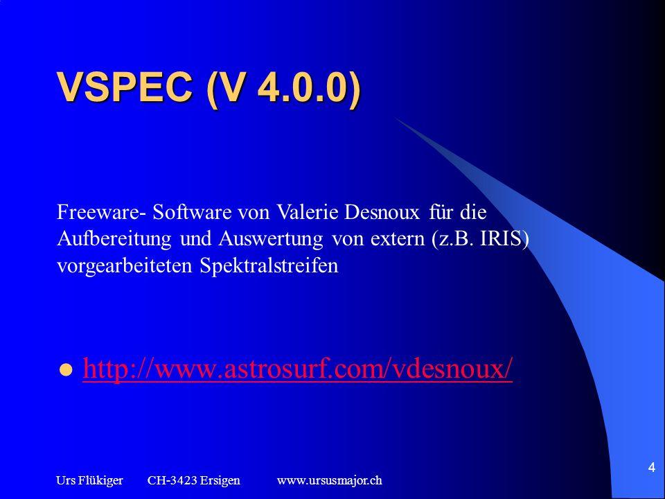 VSPEC (V 4.0.0) http://www.astrosurf.com/vdesnoux/