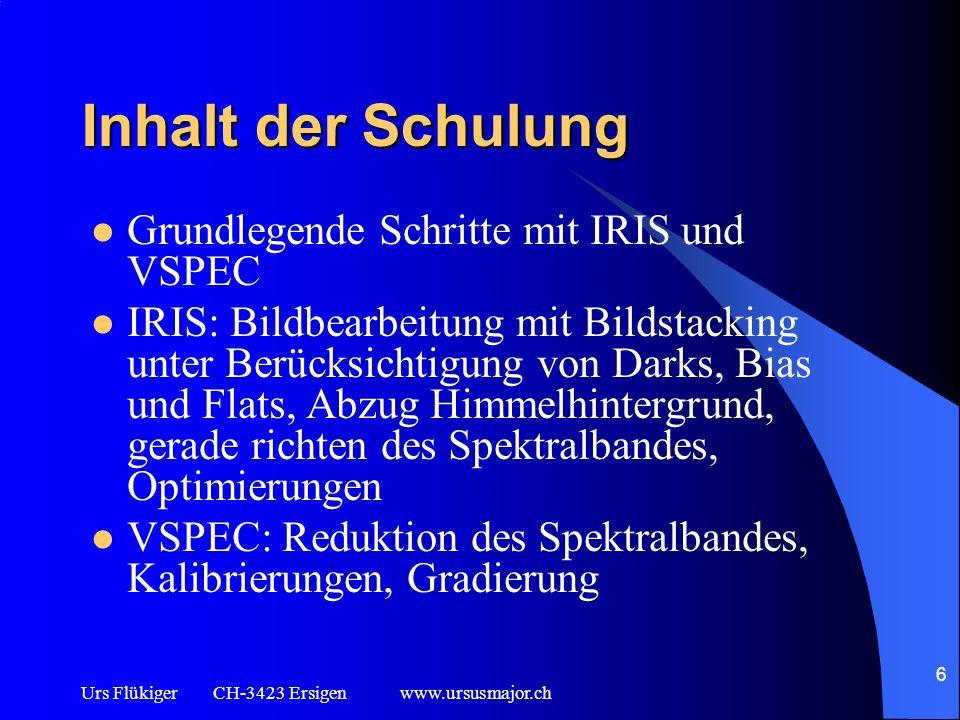 Inhalt der Schulung Grundlegende Schritte mit IRIS und VSPEC
