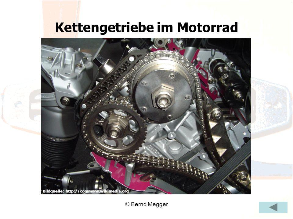 Kettengetriebe im Motorrad