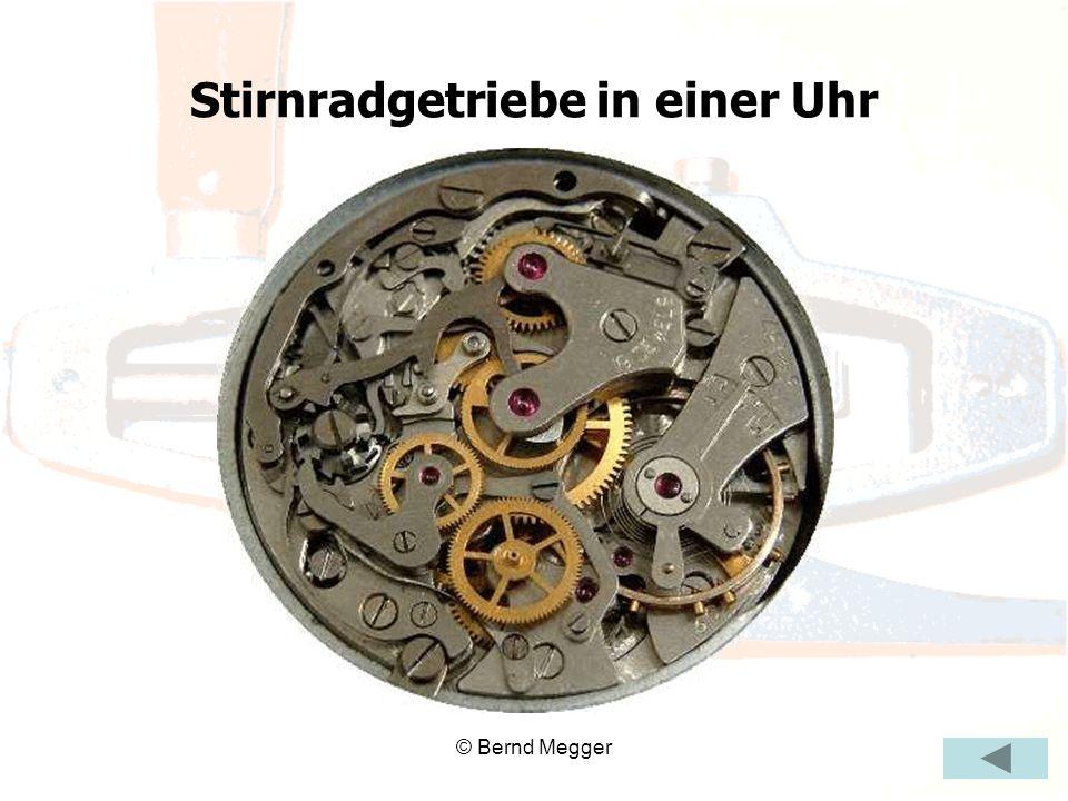 Stirnradgetriebe in einer Uhr