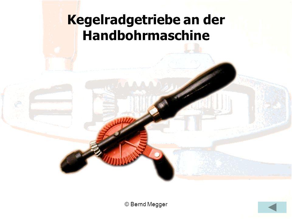 Kegelradgetriebe an der Handbohrmaschine