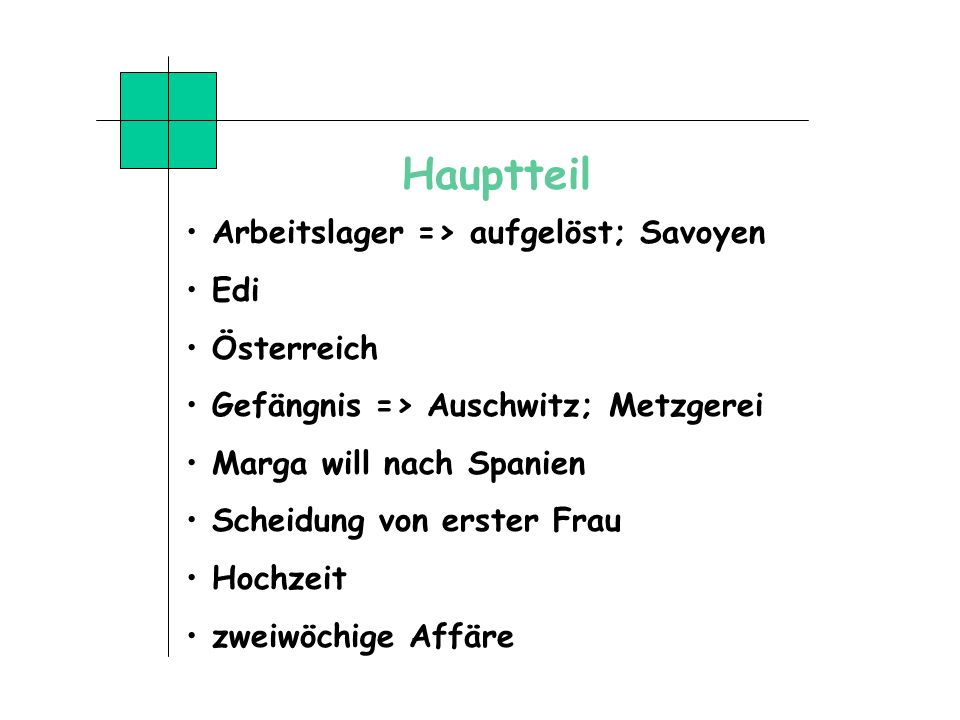 Hauptteil Arbeitslager => aufgelöst; Savoyen Edi Österreich