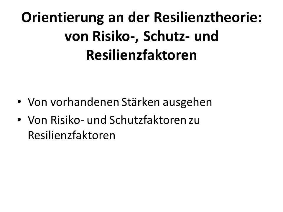 Orientierung an der Resilienztheorie: von Risiko-, Schutz- und Resilienzfaktoren