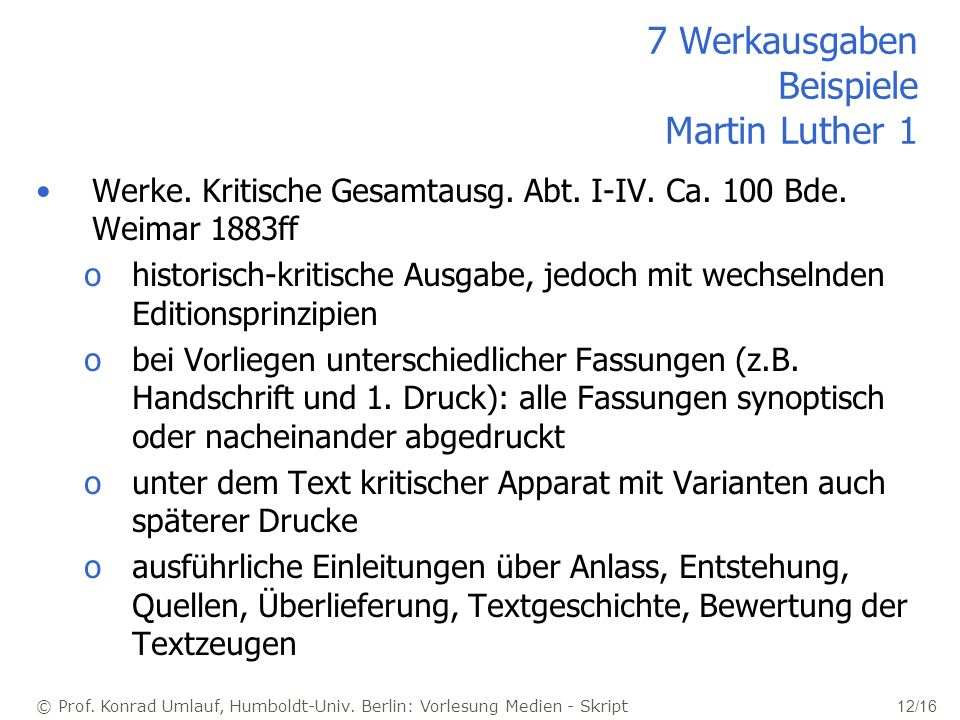 7 Werkausgaben Beispiele Martin Luther 1