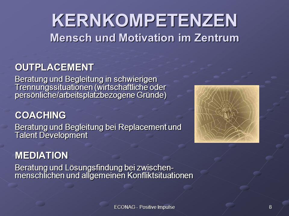 KERNKOMPETENZEN Mensch und Motivation im Zentrum