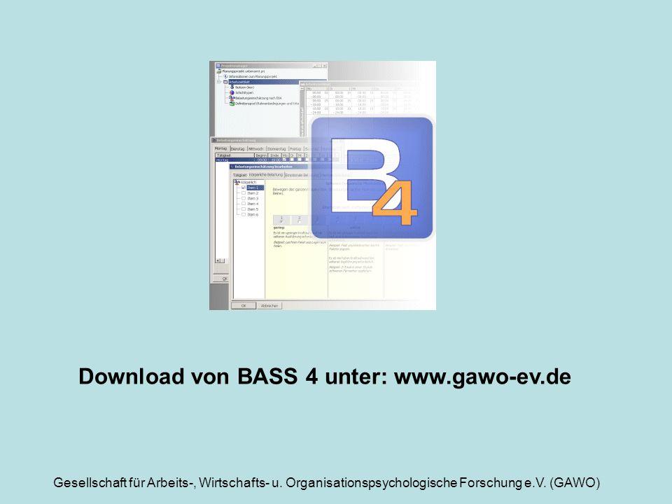 Download von BASS 4 unter: www.gawo-ev.de