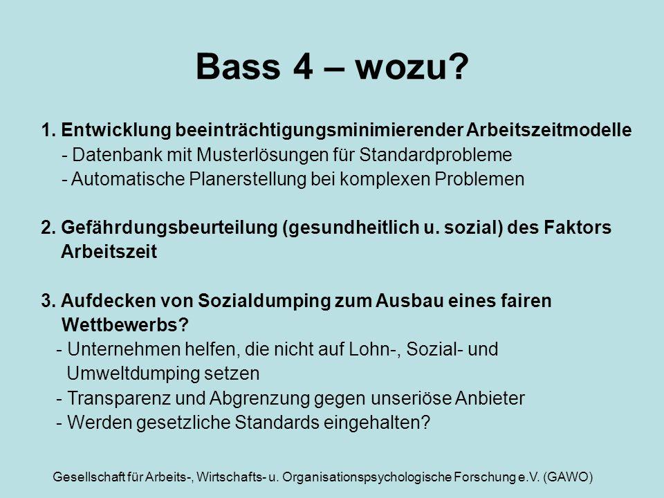 Bass 4 – wozu