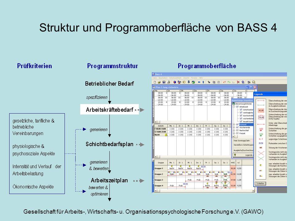 Struktur und Programmoberfläche von BASS 4