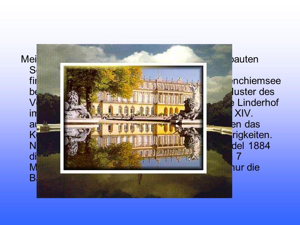 Meist lebte er in Linderhof oder auf dem neu erbauten Schloss Neuschwanstein, das er mit großem finanziellem Aufwand erbaute.