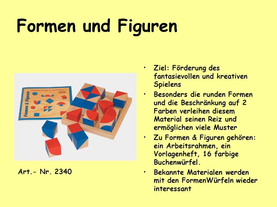 Formen und Figuren Ziel: Förderung des fantasievollen und kreativen Spielens.