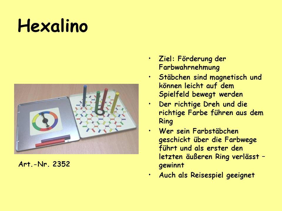 Hexalino Ziel: Förderung der Farbwahrnehmung