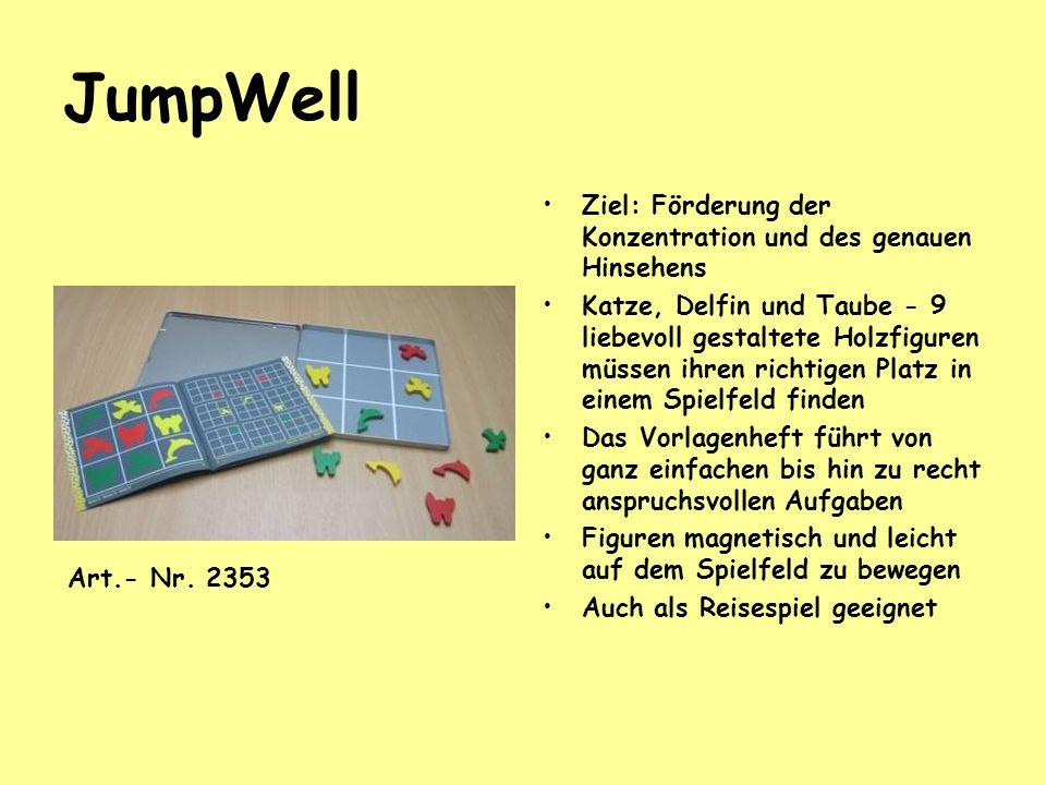 JumpWell Ziel: Förderung der Konzentration und des genauen Hinsehens