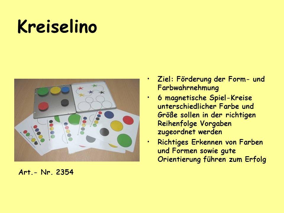 Kreiselino Ziel: Förderung der Form- und Farbwahrnehmung