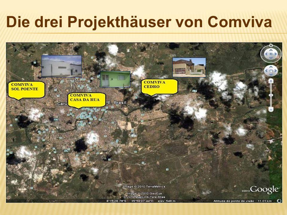 Die drei Projekthäuser von Comviva