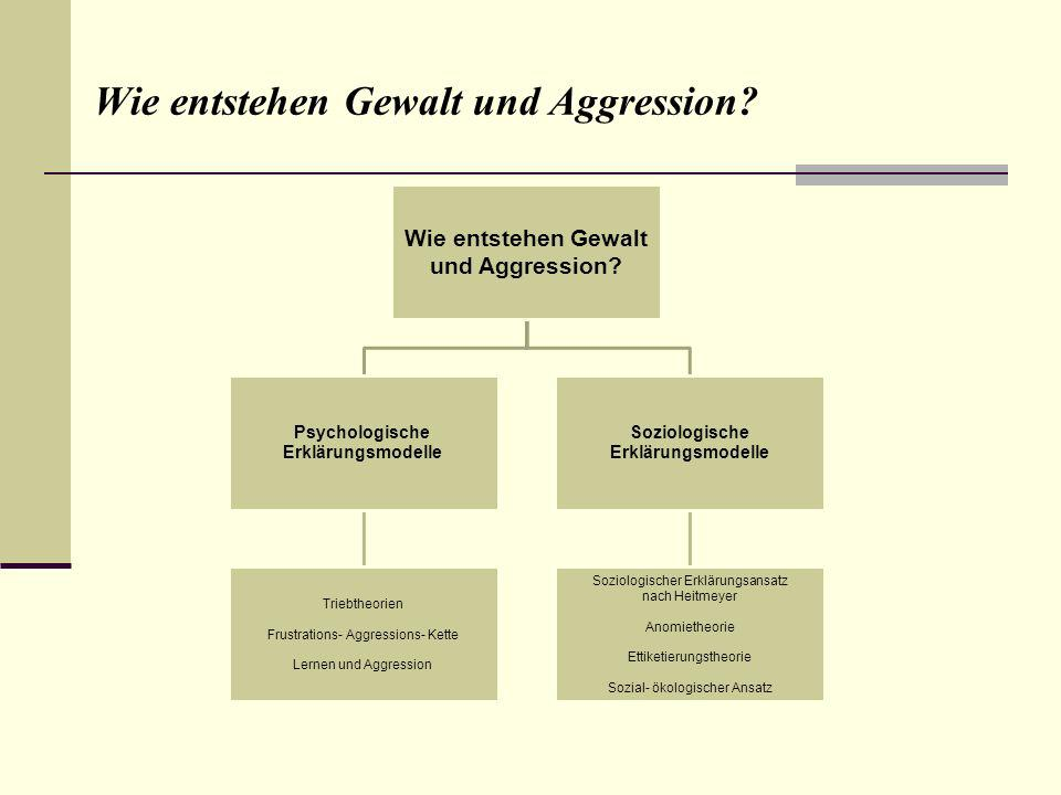 Wie entstehen Gewalt und Aggression