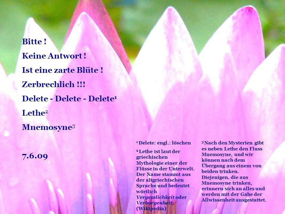 Delete - Delete - Delete1 Lethe2 Mnemosyne3 7.6.09