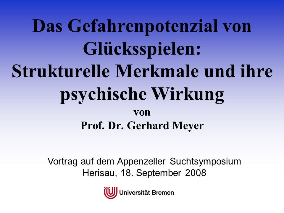 Vortrag auf dem Appenzeller Suchtsymposium Herisau, 18. September 2008