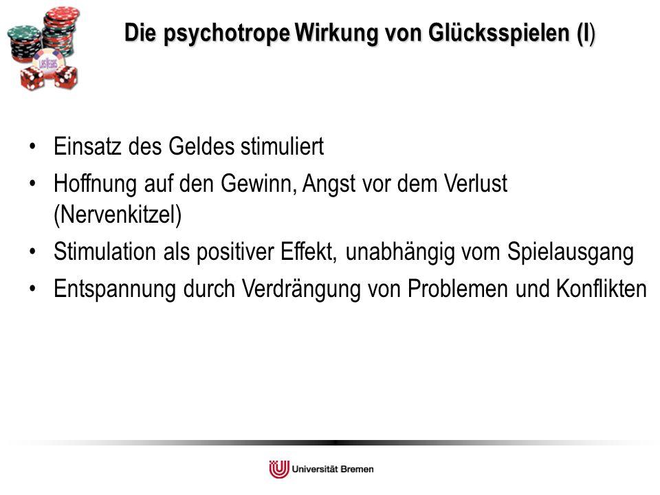 Die psychotrope Wirkung von Glücksspielen (I)
