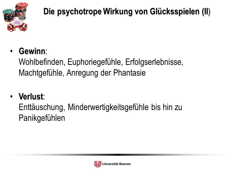 Die psychotrope Wirkung von Glücksspielen (II)