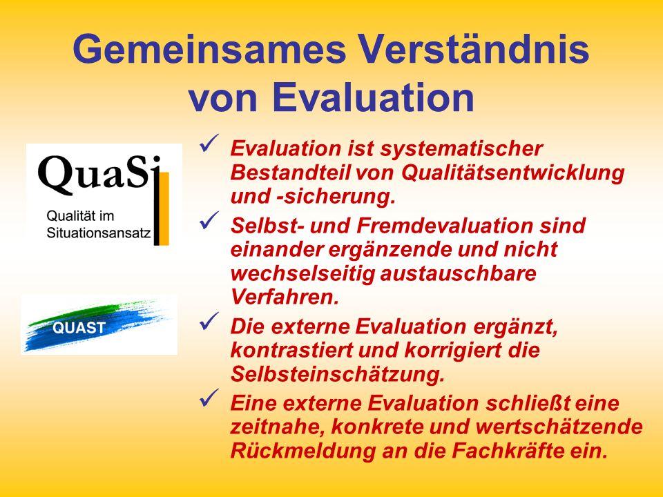 Gemeinsames Verständnis von Evaluation