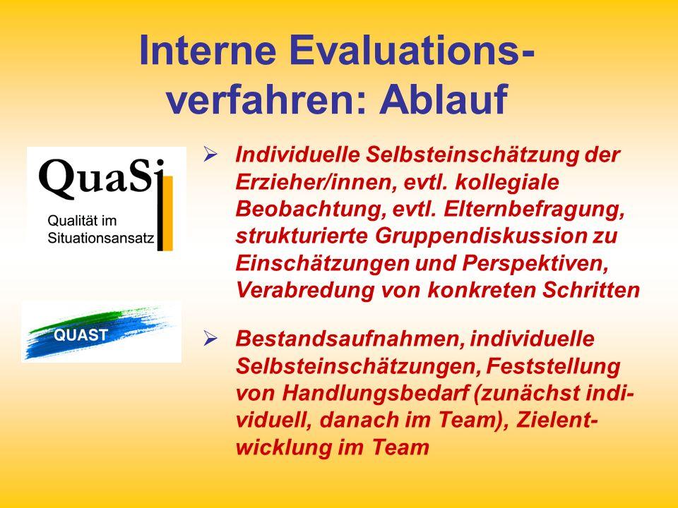 Interne Evaluations-verfahren: Ablauf
