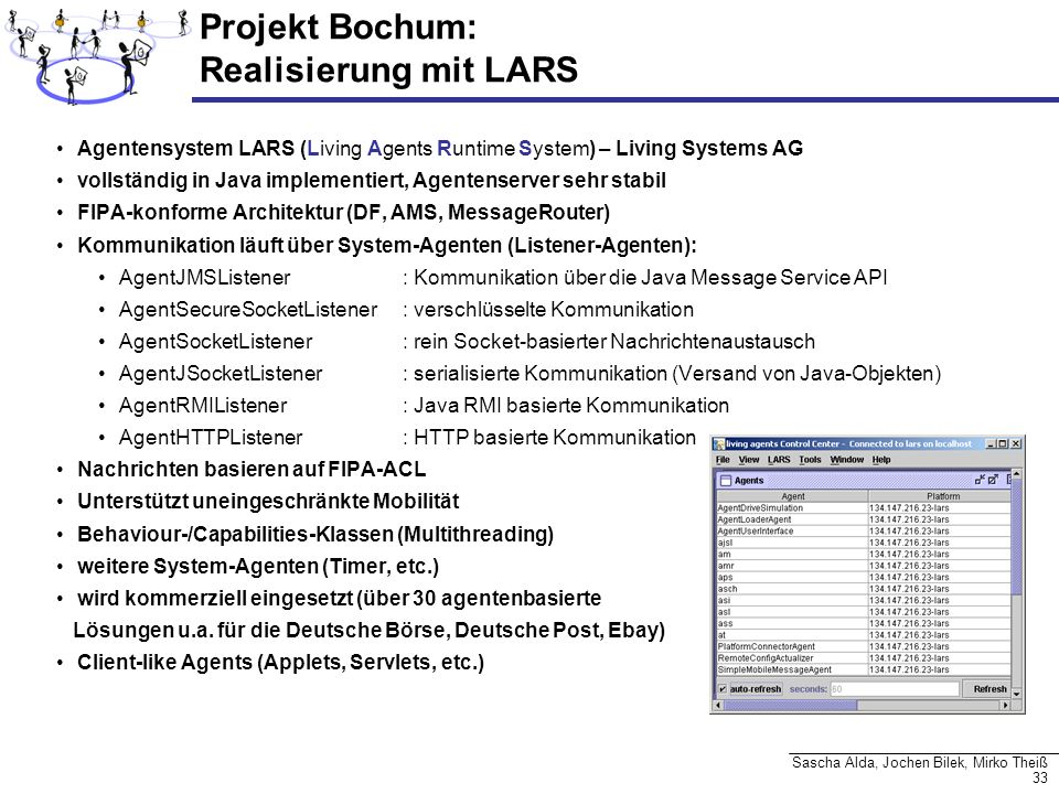 Projekt Bochum: Realisierung mit LARS
