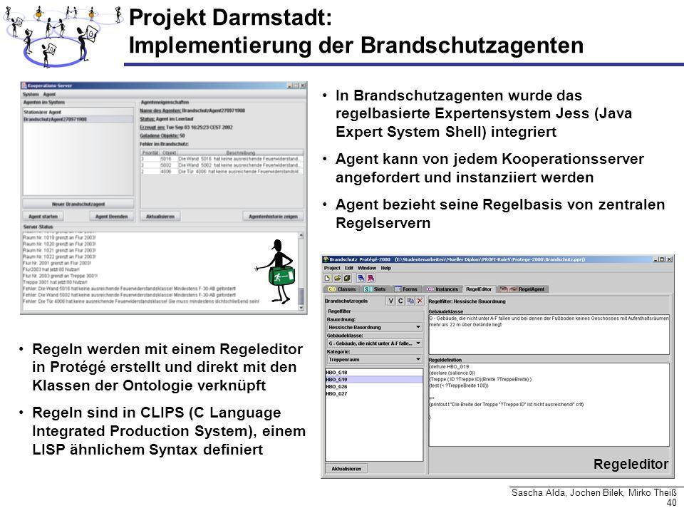 Projekt Darmstadt: Implementierung der Brandschutzagenten