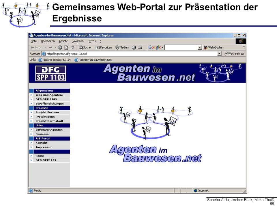 Gemeinsames Web-Portal zur Präsentation der Ergebnisse