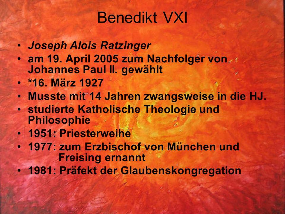 Benedikt VXI Joseph Alois Ratzinger