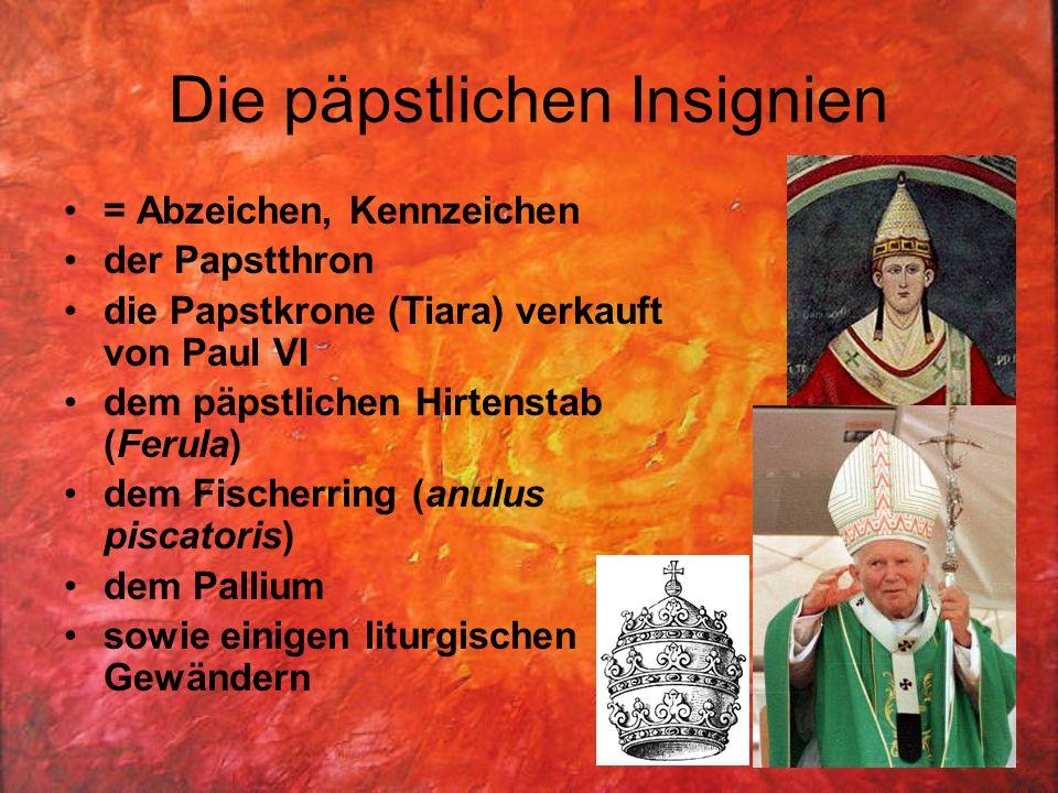 Die päpstlichen Insignien