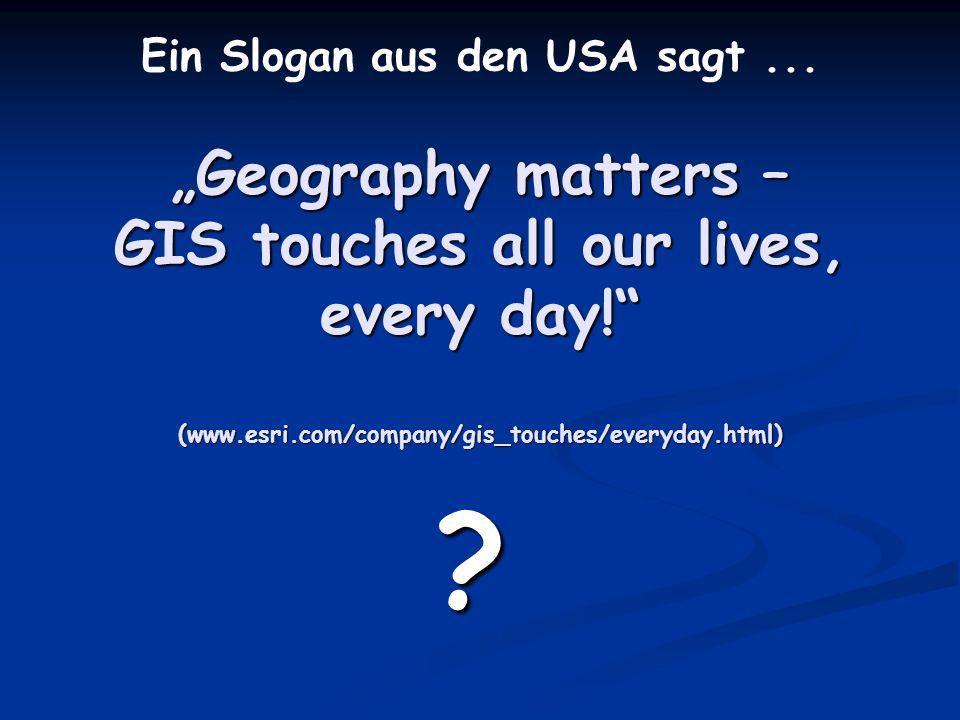Ein Slogan aus den USA sagt ...