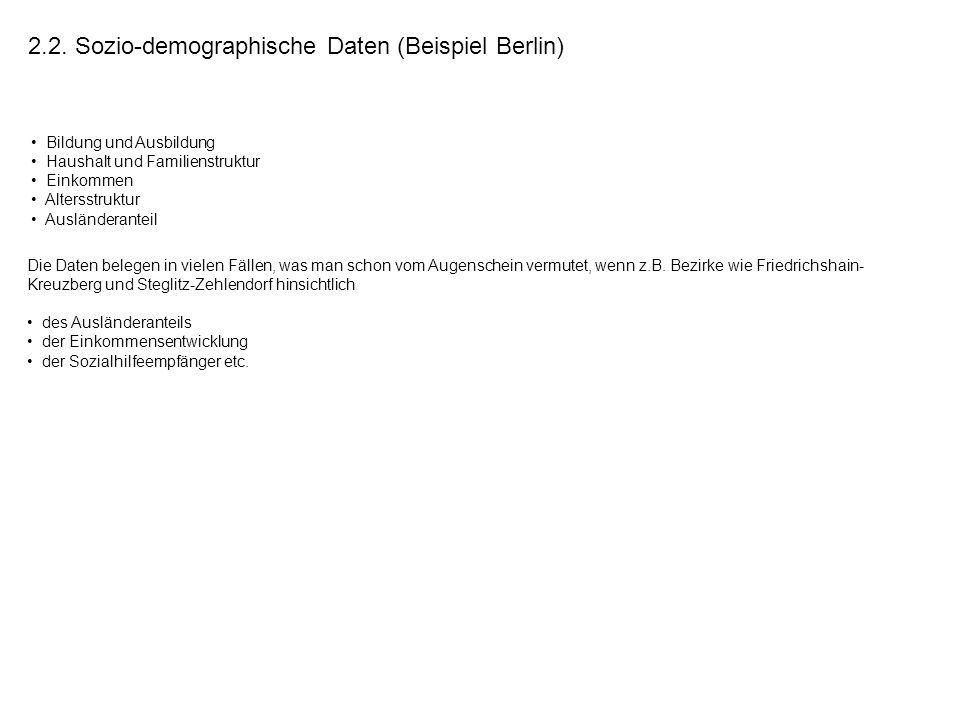 2.2. Sozio-demographische Daten (Beispiel Berlin)
