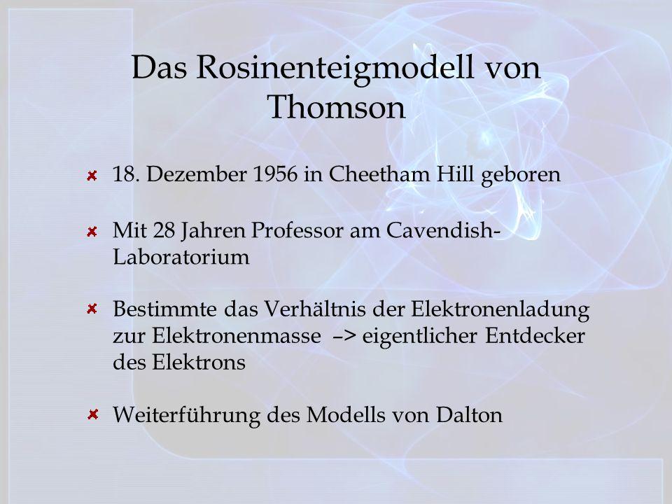 Das Rosinenteigmodell von Thomson