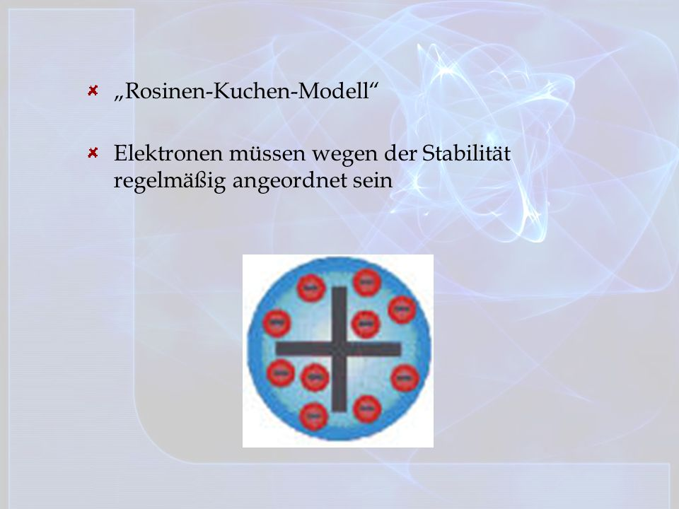 """Rosinen-Kuchen-Modell"