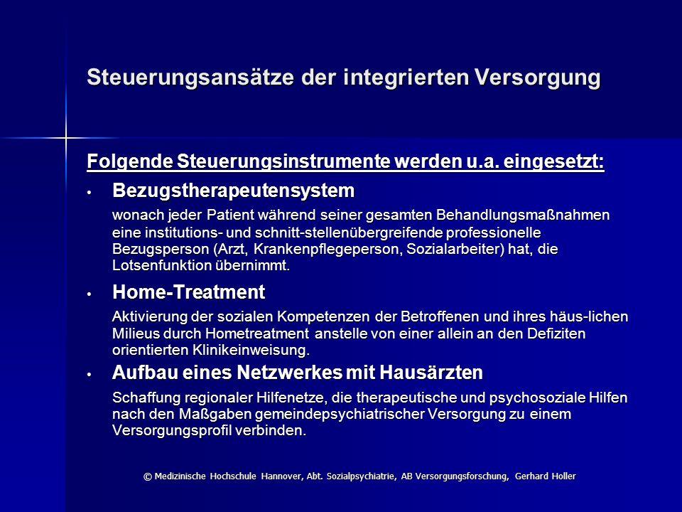 Steuerungsansätze der integrierten Versorgung