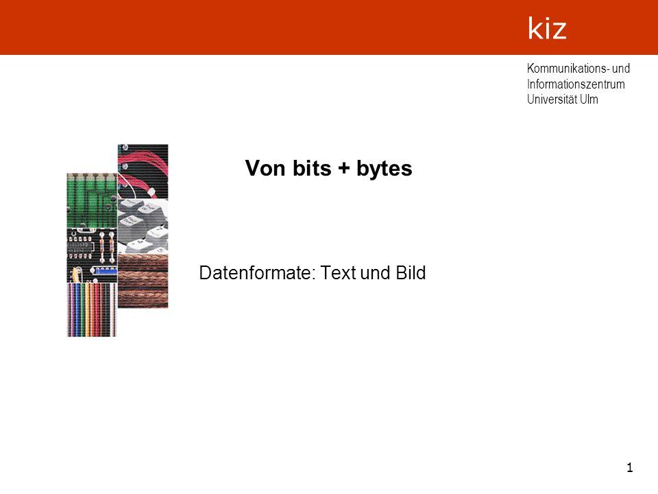 Datenformate: Text und Bild