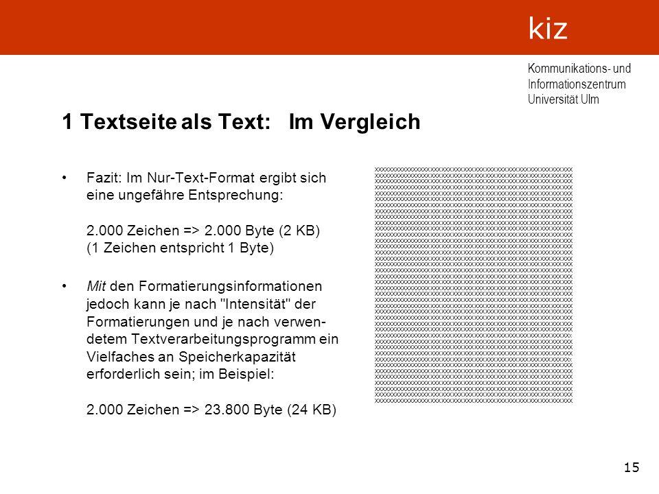 1 Textseite als Text: Im Vergleich
